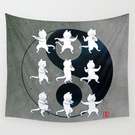 Tai Chi Cat Moves #1 Wall Tapestry