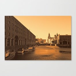 Albert Dock And the 3 Graces Canvas Print