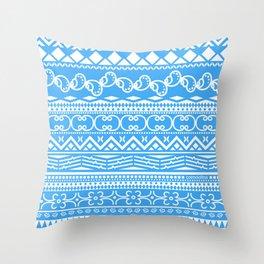 Christmas Blue Spirit Throw Pillow