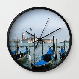 Venice, Italy Boats Wall Clock