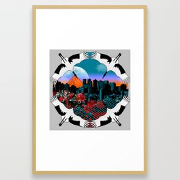Flight To Shinjuku Framed Art Print