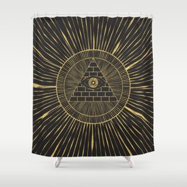 Eye of Providence (All Seeing Eye) Shower Curtain