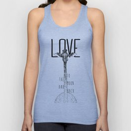 LOVE TO THE MOON AND BACK Unisex Tank Top
