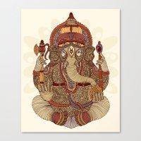 ganesha Canvas Prints featuring Ganesha: Lord of Success by Valentina Harper