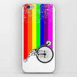 Giraffe riding a bike lgbq iPhone Skin