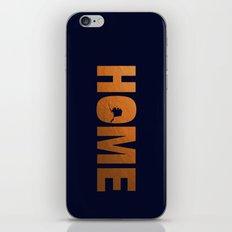 Alaska home state faux copper foil print iPhone & iPod Skin
