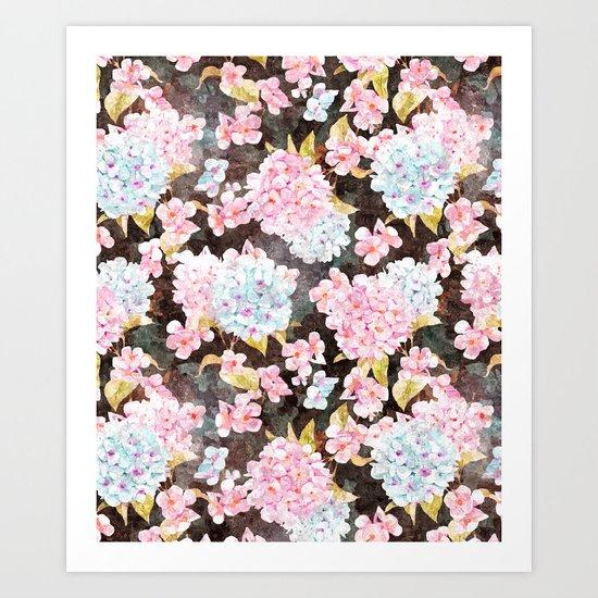 Blossom V2 #society6 #buyart #pattern Art Print