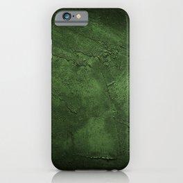 Old weathered wall dark green grunge texture iPhone Case