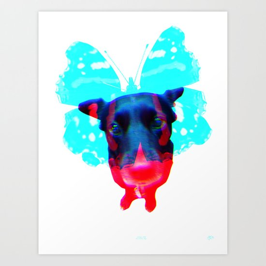 Flying Dog 4 Art Print