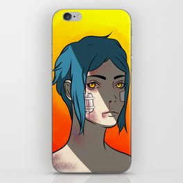 Busted and Blue iPhone Skin