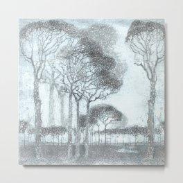 Trees in winter study I Metal Print