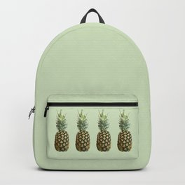 Four Juicy Pineapples Summer Fruits Series - Green Backpack