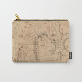 Vintage Map of The Battle of Gettysburg (1864) Carry-All Pouch