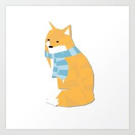 Cozy Fox Art Print