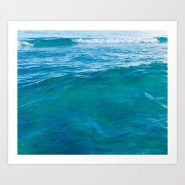 Emerald Waters Art Print