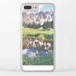 Reflections in a tarn - Gore Range, Colorado Clear iPhone Case