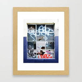 Bricked Up Windows #1 Framed Art Print