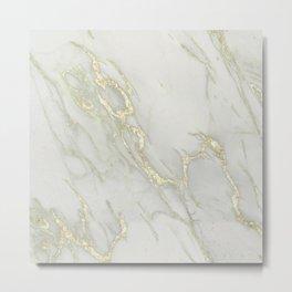 Marble Love Gold Metallic Metal Print