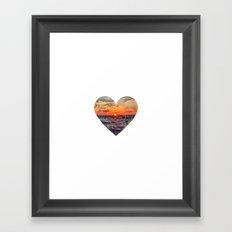 Sunset Heart Love (Valentine's Day Gifts / Girlfriend Valentine Gift) Framed Art Print