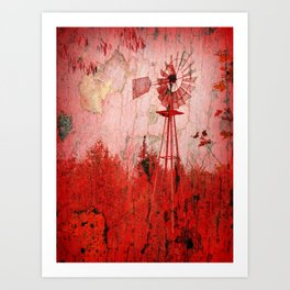 Red Winds Art Print