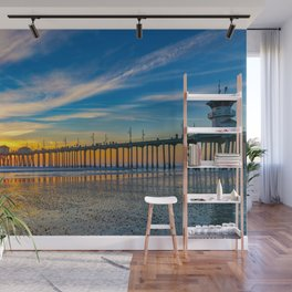 Textured Sand at Sunset Wall Mural