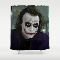 anarchy Shower Curtains featuring Introduce a little Anarchy by AdamAether