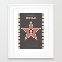 entourage Framed Art Prints featuring No525 My Entourage minimal movie poster by Chungkong