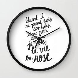 ...La vie en rose (lyrics) Wall Clock