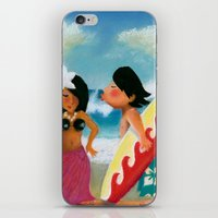 surfer iPhone & iPod Skins featuring Surfer by colortown