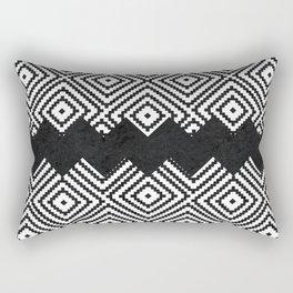 Black and White Tiles Rectangular Pillow