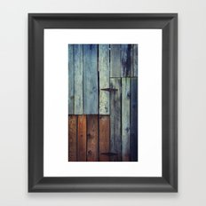 Old Barn Door II Framed Art Print