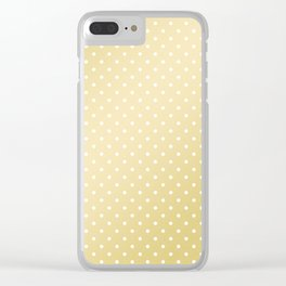 Geometric faux gold white modern gradient polka dots Clear iPhone Case