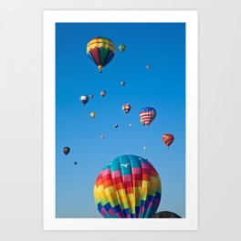 Vibrant Hot Air Balloons Art Print