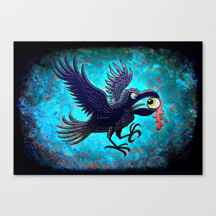 Crow Stealing an Eye Canvas Print