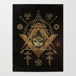 Mystical Sacred Geometry Ornament Poster