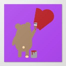 Brown Bear painting Canvas Print