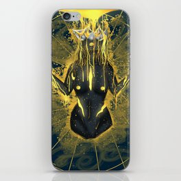 Pouring in gold. iPhone Skin