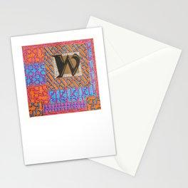 Alpha-Numero: W Stationery Cards