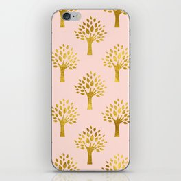 Pink Gold Foil 02 iPhone Skin