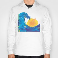 hokusai Hoodies featuring Hokusai Rainbow & Hibiscus_Y  by FACTORIE