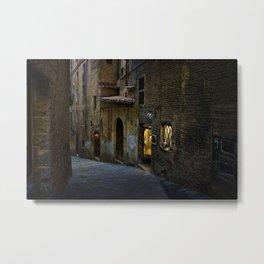 Siena Laneway Metal Print