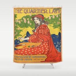 Vintage poster - The Quartier Latin Shower Curtain