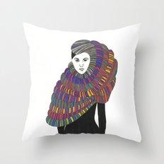 Fashion Illustration 2  Throw Pillow