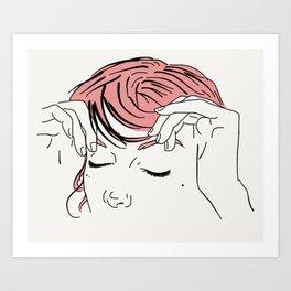 Pink Bangs Art Print