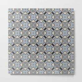 Flower Chain Abstract Seamless Pattern Metal Print