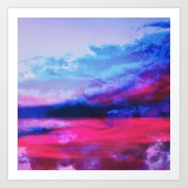 Ethereal Sunset Art Print