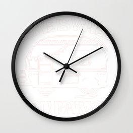 Camping Home Is Where You Park It RV Camping Trailer Trailor Wall Clock