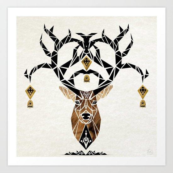 deer deer Art Print