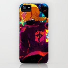 Neon Transmutation Circle iPhone Case