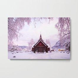 Winter postcard Metal Print